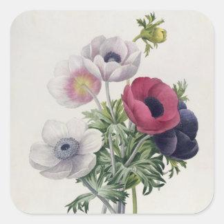 'Les Choix des Plus Belles Fleurs' Square Sticker