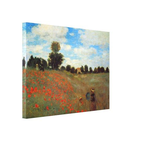 Les Coquelicots by Claude Monet Canvas Print