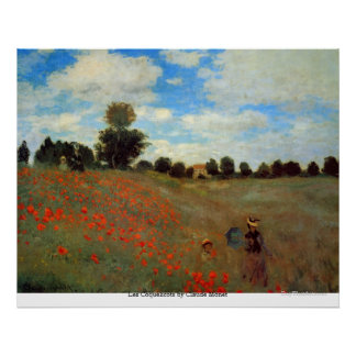 Les Coquelicots by Claude Monet Poster