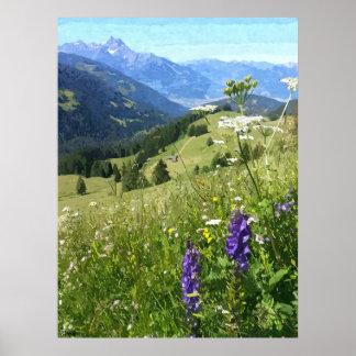 Les Dents du Midi, Switzerland Poster