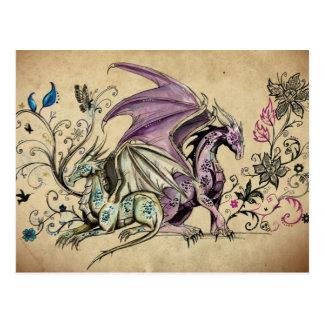 Les dragons fleuris - cartes postales