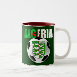 Les Fennecs Algeria flag soccer ball shield gifts Two-Tone Coffee Mug