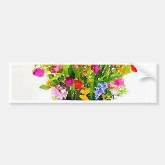 Les Fleurs Bumper Sticker