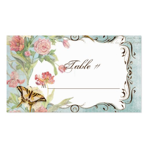 Les Fleurs Peony Rose Tulip Floral Flowers Wedding Business Card