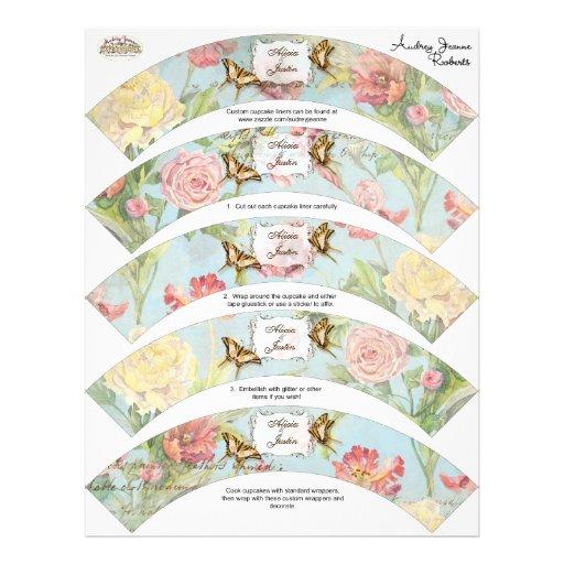Les Fleurs Peony Rose Tulip Floral Flowers Wedding Custom Flyer