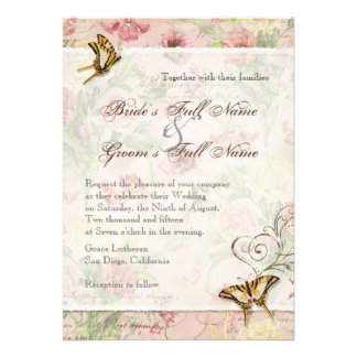 Les Fleurs Peony Rose Tulip Floral Flowers Wedding Personalized Invites