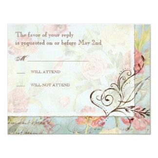 Les Fleurs Peony Rose Tulip Floral Flowers Wedding 11 Cm X 14 Cm Invitation Card