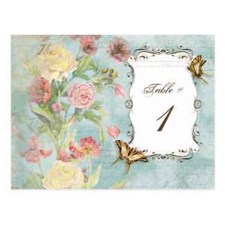 Les Fleurs Peony Rose Tulip Floral Flowers Wedding Postcard