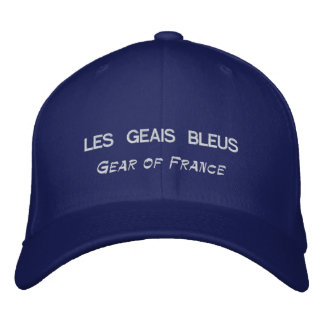 LES GEAIS BLEUS, Gear of France Embroidered Cap