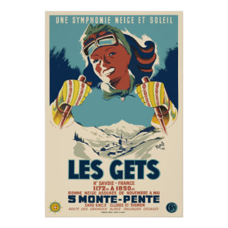 Les Gets, Savoie, France, Ski Poster