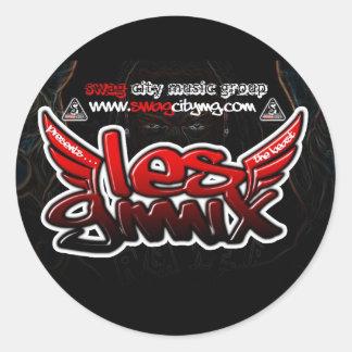 Les Gimix Round Sticker
