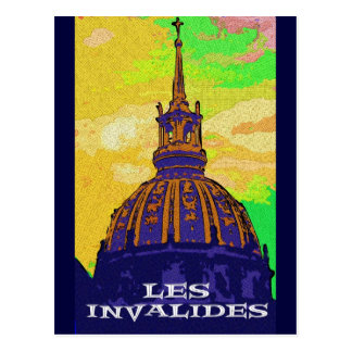 Les Invalides Dome, Paris Postcard