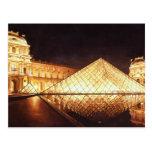 """""""Les Lumieres du Louvre"""" Watercolor Art Post Card"""