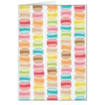 Les Macarons Blank Note Card