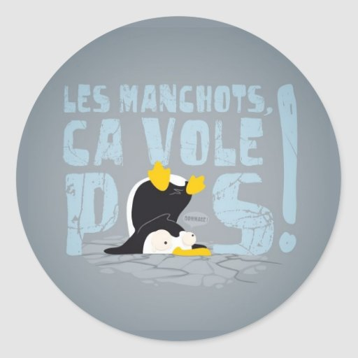 Les manchots round stickers