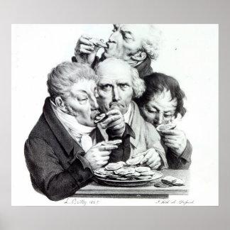 Les Mangeurs d Huitres 1825 Print