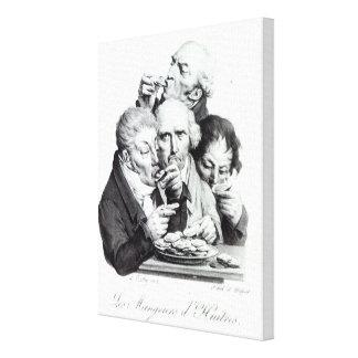 Les Mangeurs d'Huitres, 1825 Canvas Print
