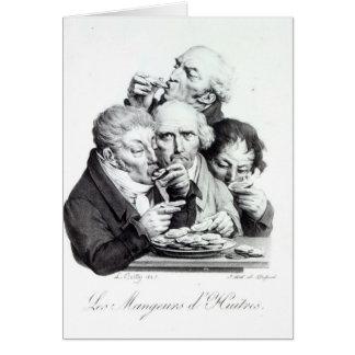 Les Mangeurs d'Huitres, 1825 Card