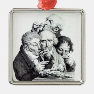 Les Mangeurs d'Huitres, 1825 Christmas Ornament