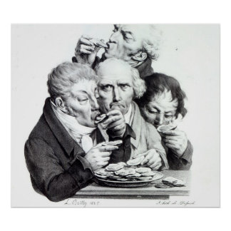 Les Mangeurs d'Huitres, 1825 Print