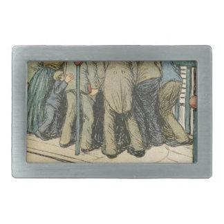Les Marionnettes de la Vie 1890 - L'Article 330 Rectangular Belt Buckle
