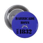 Les Misérables Love: Barricade Boys Button (Blue)