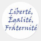 Les Misérables Love: Liberté, Égalité, Fraternité Classic Round Sticker