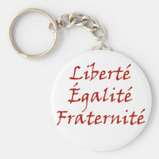 Les Misérables Love: Liberté, Égalité, Fraternité Basic Round Button Key Ring
