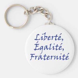 Les Misérables Love: Liberté, Égalité, Fraternité Key Ring