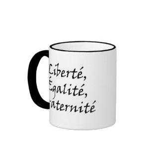 Les Misérables Love: Liberté, Égalité, Fraternité Ringer Coffee Mug