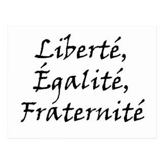 Les Misérables Love Liberté Égalité Fraternité Postcard