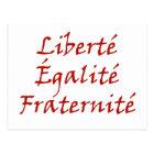 Les Misérables Love: Liberté, Égalité, Fraternité Postcard