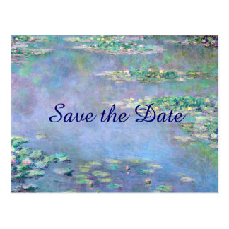 Les Nympheas Water Lilies Save the Date Wedding Postcard