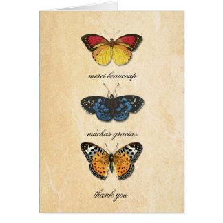 Les Papillons Thank You Card