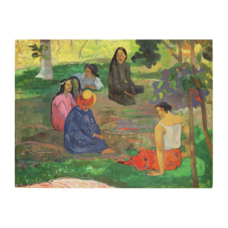 Les Parau Parau (The Gossipers) Wood Print