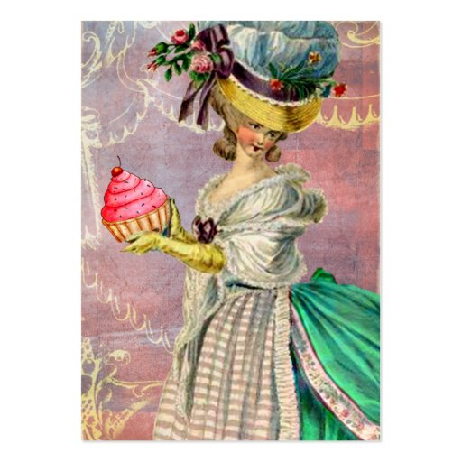 Les Petits Gateaux Marie Antoinette Cupcake & Bird Pack Of Chubby Business Cards