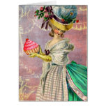 Les Petits Gateaux Marie Antoinette Cupcake Greeting Card