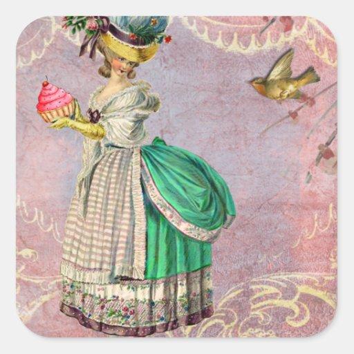 Les Petits Gateaux Marie Antoinette Cupcake Stickers