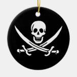 Les pirates sont l� - round ceramic decoration