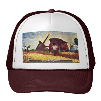 Les Terrassiere By Seurat Georges Mesh Hat