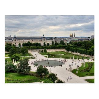 Les Tuileries Gardens Postcard
