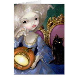 """Les Vampires: Lanterne-Citrouille"" Greeting Card"