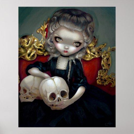 Les Vampires: Les Crânes ART PRINT rococo vampire