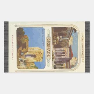 Les Villes D'Art Grenade Porte , Vintage Sticker