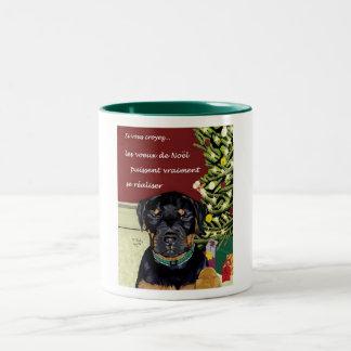 Les voeux de Noel grande tasse Coffee Mugs