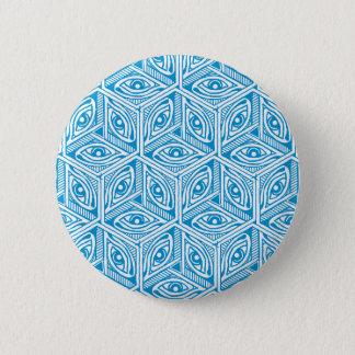 """""""Les yeux"""" hand-drawn geometric pattern button"""