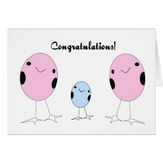 Lesbian adopted a boy congratulations card