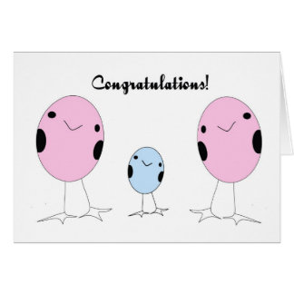 Lesbian adopted a boy congratulations greeting card