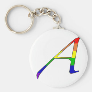 """Lesbian and Gay Pride """"Scarlet"""" Letter A Basic Round Button Key Ring"""