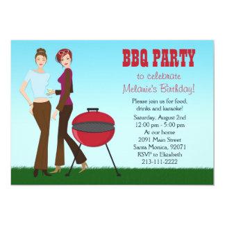 """Lesbian BBQ Party Invitation 5"""" X 7"""" Invitation Card"""